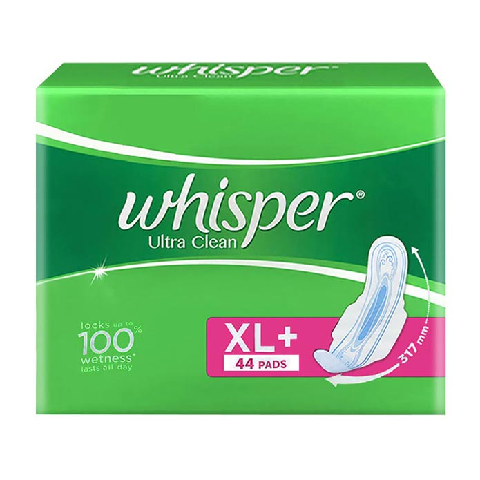 Whisper Ultra Clean XL Wings Pads - 44 U : Buy Whisper Ultra Clean ...